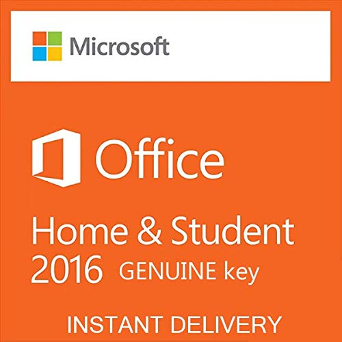 Office Home and Student 2016 RETAIL Electronic Software Delivery (ESD) License Key by e-mail