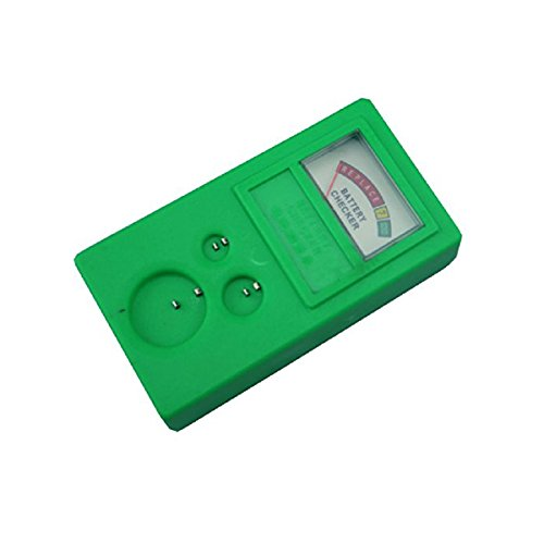 Pixnor Battery Power Tester Watch Repair Kit for LR44 CR2032 CR2025 Button Cell (Green)
