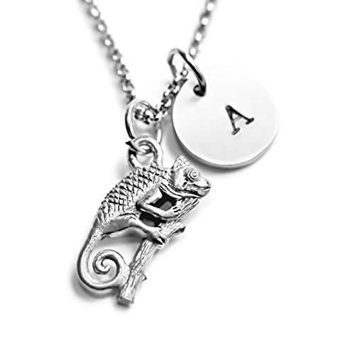 6c7210150273 Amazon.com  Antique Silver Plated Iguana Necklace
