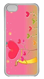 LINMM58281Customized iphone 5/5s PC Transparent Case - Valentines Day 2 Personalized CoverMEIMEI