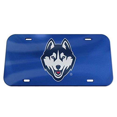 Uconn Connecticut Huskies Logo Crystal Mirror License Plate