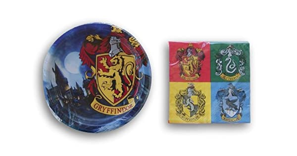 Amazon.com: Harry Potter Casas Fiesta de cumpleaños Supply ...