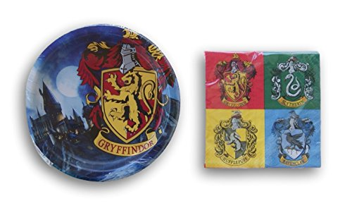Harry Potter Houses Birthday Party Supply Kit - Plates and Napkins (Harry Potter Birthday Party Ideas)