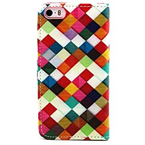 WQQ Rainbow Pattern PU Leather Full Body Case with Stand for iPhone 5/5S