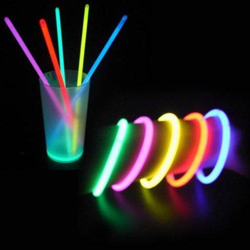 Unbekannt Hundert mehrfarbige helle Starlight-Armb/änder Festivals ideal f/ür Clubs Geburtstage und viele andere Anl/ässe.