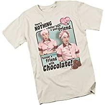 Friends And Chocolate -- I Love Lucy Adult T-Shirt, Large