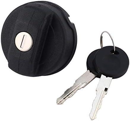NancyMissY フォルクスワーゲン車用の2つのキー付きプレミアム燃料タンクフィラーロック可能なキャップカバーカーアクセサリー交換部品