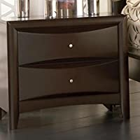 Phoenix Deep Cappuccino 2 Drawer Nightstand