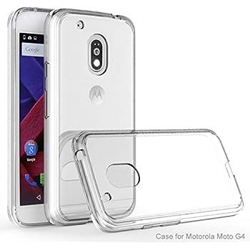 Moto G4 play case, KuGi Moto G4 play -[ Drop /Shock/ scratch Absorption Protection] TPU Bumper + PC back Case for Motorola Moto G4 play smartphone (Clear)