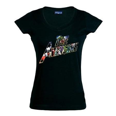 Talla: XXL Chica manga corta Ancho//largo Camiseta The Avengers 2012 chica 51cm//66cm