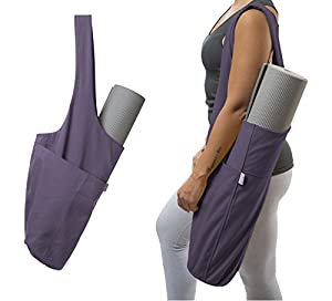 Yoga Mat Bag by Yogiii | The ORIGINAL YogiiiTote | Yoga Mat Tote Sling Carrier w/ Large Side Pocket & Zipper Pocket | Fits Most Size Mats by Yogiii