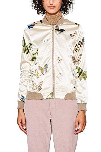 edc by Esprit, Blouson Femme Multicolore (Light Beige 290)
