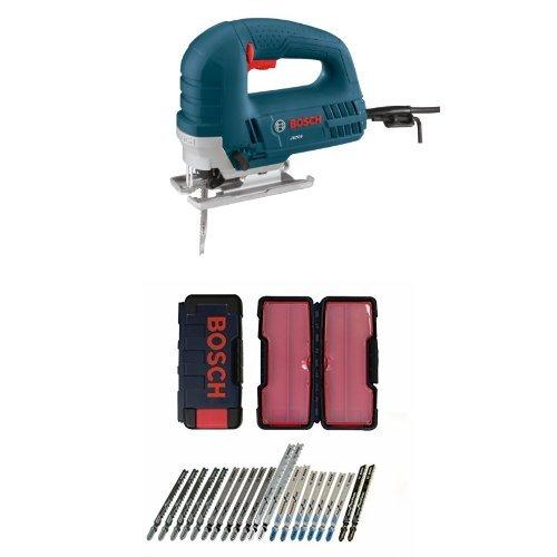 Bosch JS260 120-Volt Top-Handle Jigsaw and 21-Piece T-Shank Contractor Jig Saw Blade Set