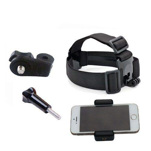 Multi-Function Adjustable Belt Cellphone Selfie Head Mount Strap for Sony Action Cam/Gopro Hero/Cell Phone/iPhone XR XS Max X 8 7 6 Plus/Samsung LG Huawei