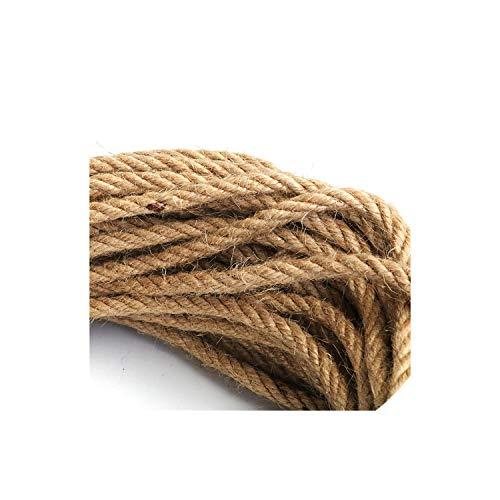 6Mm 1M 50M Natural Jute Rope Twine Rope Hemp Twisted Cord Macrame String DIY Craft Handmade Decoration,20M -