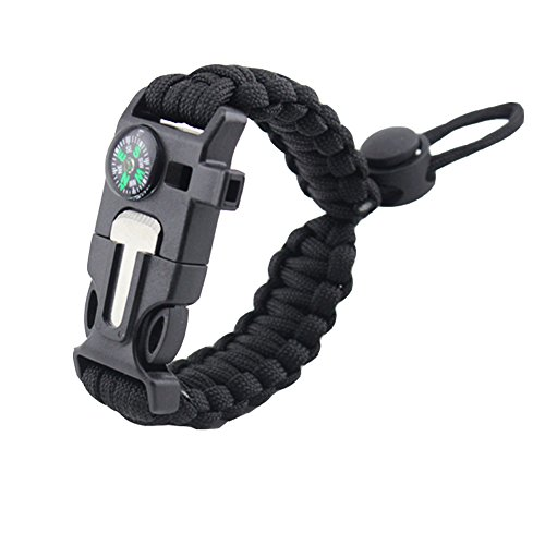 Paracord-Bracelet-Adjustable-Size-Emergency-Survival-with-Compass-Fire-Starter-Knife-Whistle-for-Camping-Hiking-Hunting-and-Travelling