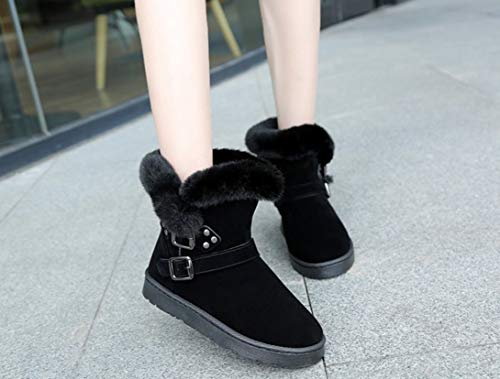 Amazon.com: SHANGWU Women Winter Boots/Slip-on Snow Boots Womens Suede Leather Solid Color 2018 Flat Heel Ladies Plush Inside and Warm Ankle Boots: Sports & ...