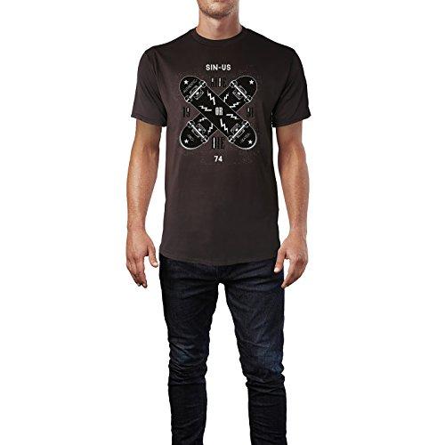 SINUS ART ® Skate Gang – Ride Or Die 1991 Herren T-Shirts in Schokolade braun Fun Shirt mit tollen Aufdruck