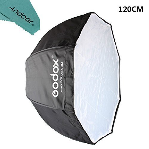 Godox 120cm/47.2in Portable Octagon Softbox Umbrella Brolly Reflector for Speedlight Flash by Andoer