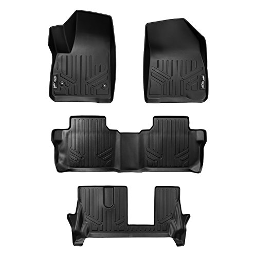 Denali 2nd Row Bench Seats - MAX LINER A0230/B0248/C0248 Custom Fit Floor Mats 3 Liner Set Black for 2017-2019 GMC Acadia with 2nd Row Bench Seat