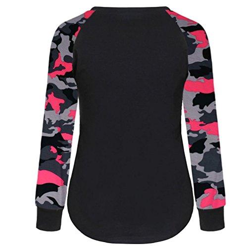 Bekleidung Longra Frauen lange Ärmel Hemd lässige Bluse Tops T Shirt