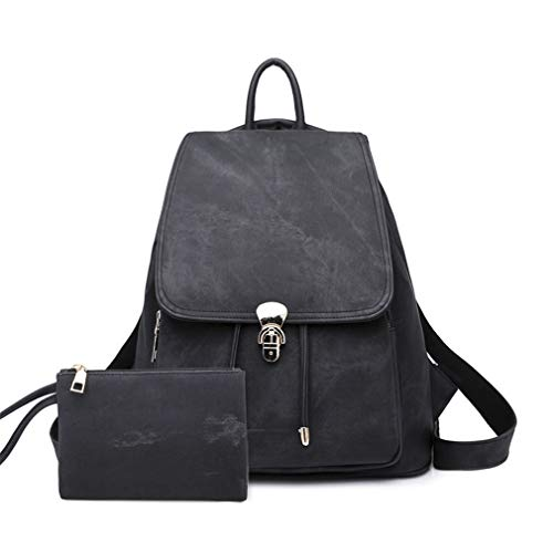 2Pcs for Black Backpack Black Set Bags School wpxTRg