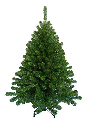 Larksilk Classic Green Artificial Northern Spruce Christmas Tree, No Tool Assembly, 349 Tips to Hang Oranaments, 4 1/2 Foot Tall, Decorate Using Lights and Xmas Balls, Stand Included (Xmas At Home Depot Trees)