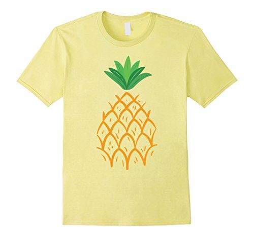 Pineapple Costumes Adults (Mens Funny Halloween Pineapple Costume T-shirt XL Lemon)