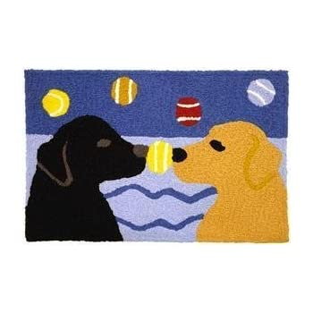 Amazon Com Yellow Amp Black Labs With Bones Doormat