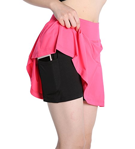 Annjoli womens golf skirt tennis workout fitness skort (XL, (Skort Fitness Skirts)