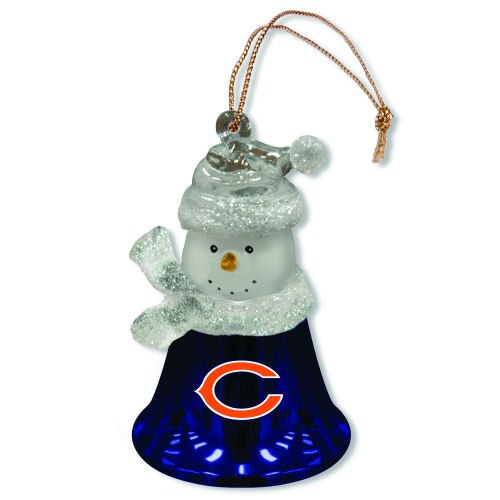 Set of 2 NFL Chicago Bears Snowman Bell