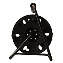 Woods 22849 Cord Reel with Metal Stand, Black