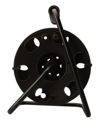 - Woods 22849 Metal Extension Cord Reel Stand In Black, Heavy Duty, Quick Snap Together Design, Sturdy and Durable Stand, Easy to Grip Handles, Holds Up To 100 Feet, 14/3 Gauge Cord