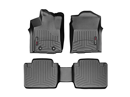 2016 Toyota Tacoma-Weathertech Floor Liners-Full Set (Includes 1st and 2nd Row)-Fits Access Cab-With Automatic-Black