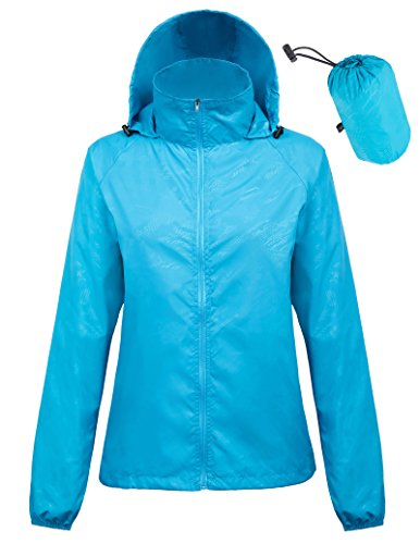 Kate Kasin Lightweight Rainwear Active Outdoor Cycling Running Jacket (XL,Blue1001)