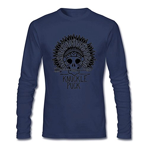 SAMSEPH Men's Knuckle Puck Weight That You Buried Logo Long Sleeve T-shirt Size L Royal Blue Kate Royal Wedding T-shirt