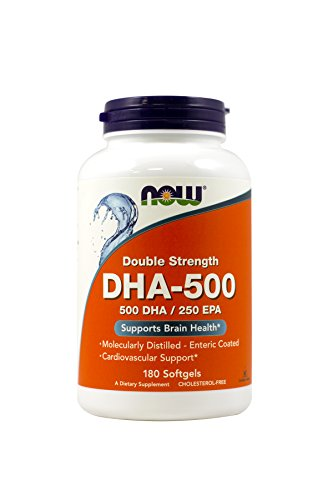 NOW Foods - Dha- 500Mg 180 Sgels (Pack of 2)