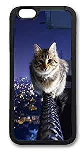 iPhone 6 Plus Cases, Cat Animal Cool Durable Soft Slim TPU Case Cover for iPhone 6 Plus 5.5 inch Screen (Does NOT fit iPhone 5 5S 5C 4 4s or iPhone 6 4.7 inch screen) - TPU Black