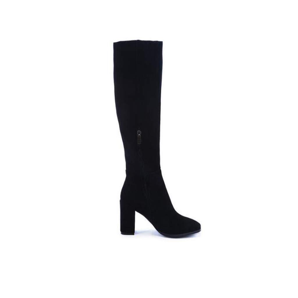 TYX-TT Lange Damenstiefel mit dicken elastischen Beinen und Kniestiefeln hochhackigen Kniestiefeln und für Damen c5477a