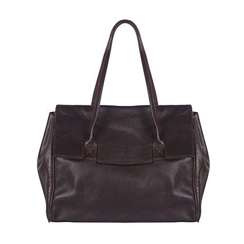 Cowboysbag - Bolso al hombro de cuero para mujer marrón Brown (Braun)
