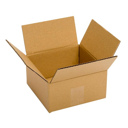 "Pratt PRA0008 100% Recycled Corrugated Cardboard Box, 6"" Length x 6"" Width x 4"" Height, Kraft"