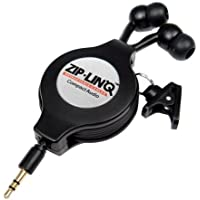 Cables Unlimited Retractable 2.5mm Earbuds - Black