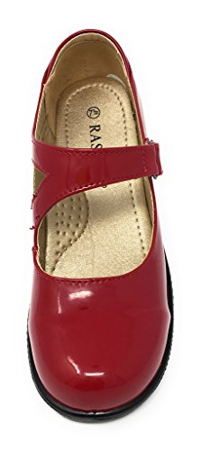 Women's Strap Red Adjustable Professional Black Jane with Clogs Closed Patent Back Rasolli Mary Patent d6FqwzHdx