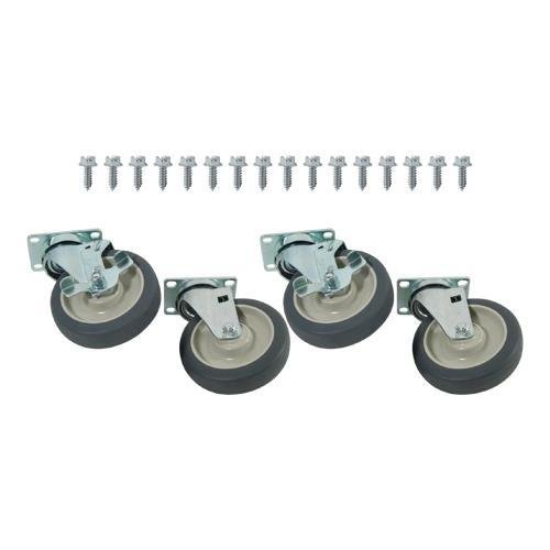 Generic 35800 Caster Set, Extra H/D, Plate Mount 5'' Wheels by Generic