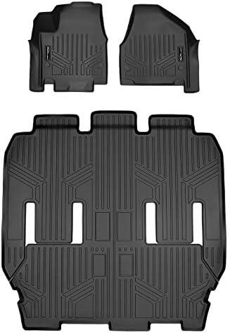 SMARTLINER SA0232/B0291 for 2017-2021 Chrysler Pacifica 7 or 8 Passenger Model (No Hybrid or Pinnacle Models) / 2020 Voyager, Black