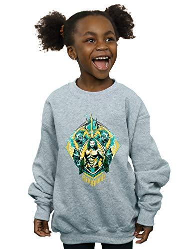 Gris Dc Fille Comics shirt Sport Crest Trench Sweat Aquaman The zqF7zC
