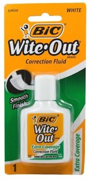BIC Wite Out Extra Coverage Correction Fluid-.7oz - Correction Fluid