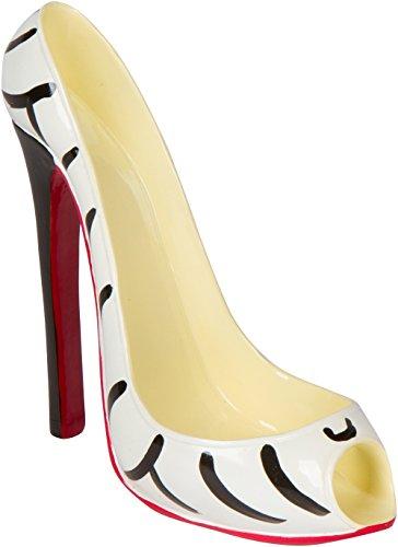 - Hilarious Home High Heel Wine Bottle Holder - Stylish Conversation Starter Wine Rack (Zebra Print)