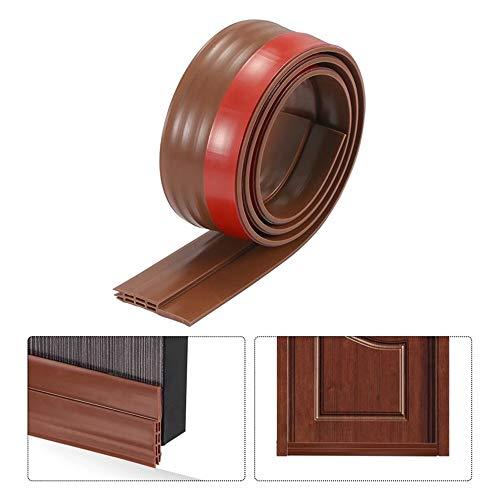 """Under Door Draft Stopper Door Sweep Door Draft Blocker Door Seal Insulation Door Threshold Cover Weatherstripping,Energy Saver for Weatherproofing Door Bottom Seal-2"""" W x 39"""" L-Brown (1PCS)"""