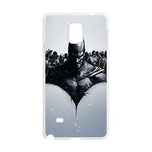 Samsung Galaxy Case Nota 4 cubiertas blancas Batman Arkham Origins l protector plástico caja del teléfono X1P4IV